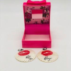 Betsey Johnson XOXO Earrings.